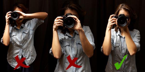 Hur man håller en kamera